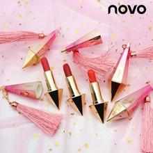NOVO Brand Fashion Diamond Brighte matte Lipstick Waterproof Long-Lasting lips t