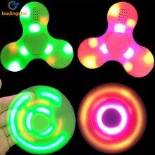 LeadingStar Juguete LED Brillante Mano Tri-Spinner Spinner Con Altavoz Bluetooth Para El TDA TDAH Regalo de La Ansiedad y El Estrés de Socorro zk35