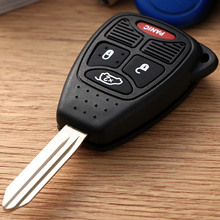 4 Buttons Remote Keyless Entry Combo Transmitter Key Fob for Chrysler Jeep Uncut Blade Blank Car Auto Shell Cover Case
