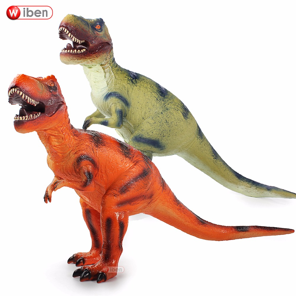 Jurassic Big Dinosaur Toy Tyrannosaurus Rex Soft Plastic Animal Model Action & Toy Figures kids toys Gift цена