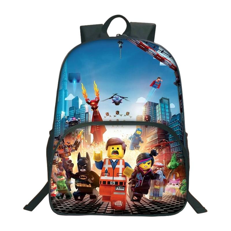 Lego-Backpacks Mochila-Star School-Bag Ninjago-Pattern Movie Batman Cartoon Girls