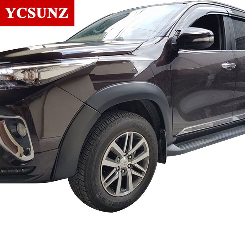 US $270 86 30% OFF Wheel Arches Fender Flares Mudguards Accessories For  Toyota Fortuner Hilux SW4 2016 2017 2018 2019-in Mudguards from Automobiles  &