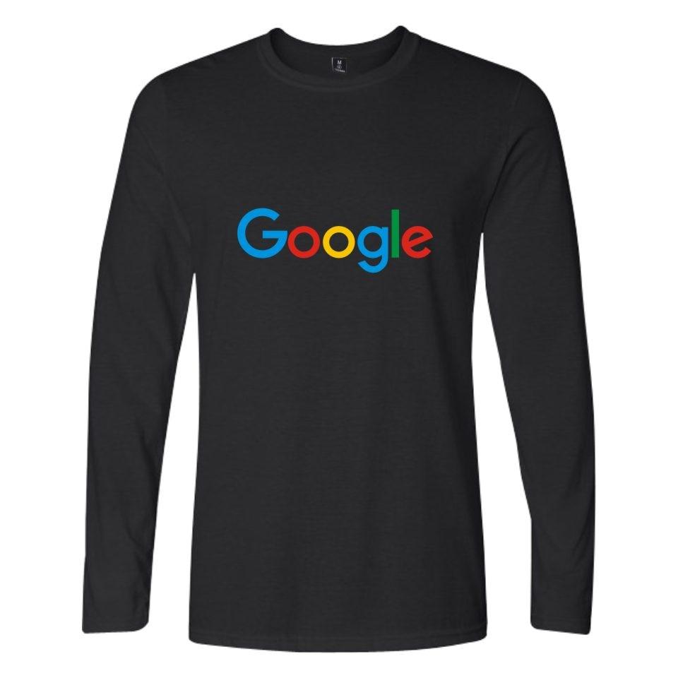 Google Casual Google Clothing Google Print Loog Sleeve   T     shirt   O-neck Long Sleeve Tees   shirt   Google Logo tshirt
