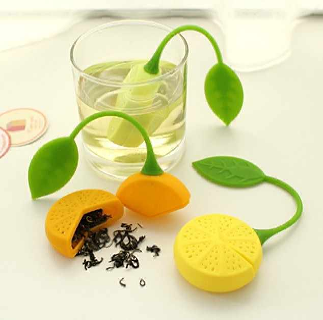 1Pc Tea Strainer Silicone Strawberry Lemon Design Loose Tea Leaf Strainer Bag Herbal Spice Infuser Filter Tools