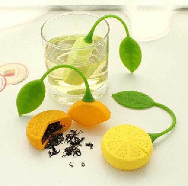 1Pc Tea Strainer Silicone Strawberry Lemon Design Loose Tea Leaf Strainer Bag Herbal Spice Infuser Filter Tools