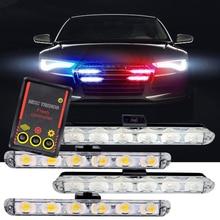 цена на 1Set DC 12V Car Truck Emergency Light 4X6 Led Flashing Firemen Lights Car-Styling Ambulance Police Light Strobe Warning Light
