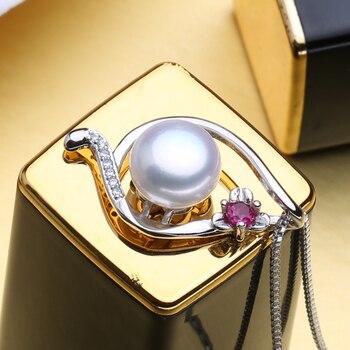 e8f62371b170 MINTHA de moda collar de rubí joyería de perlas collares y colgantes joyería  de La Flor de Plata de Ley 925 Collar de plata para las mujeres