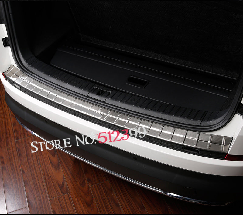 1piece Exterior Rear Trunk Outer Bumper Door Sill Plate Protector Cover Trim Stainless Steel for Skoda Kodiaq 2017-2018 26pcs stainless steel outer front bumper