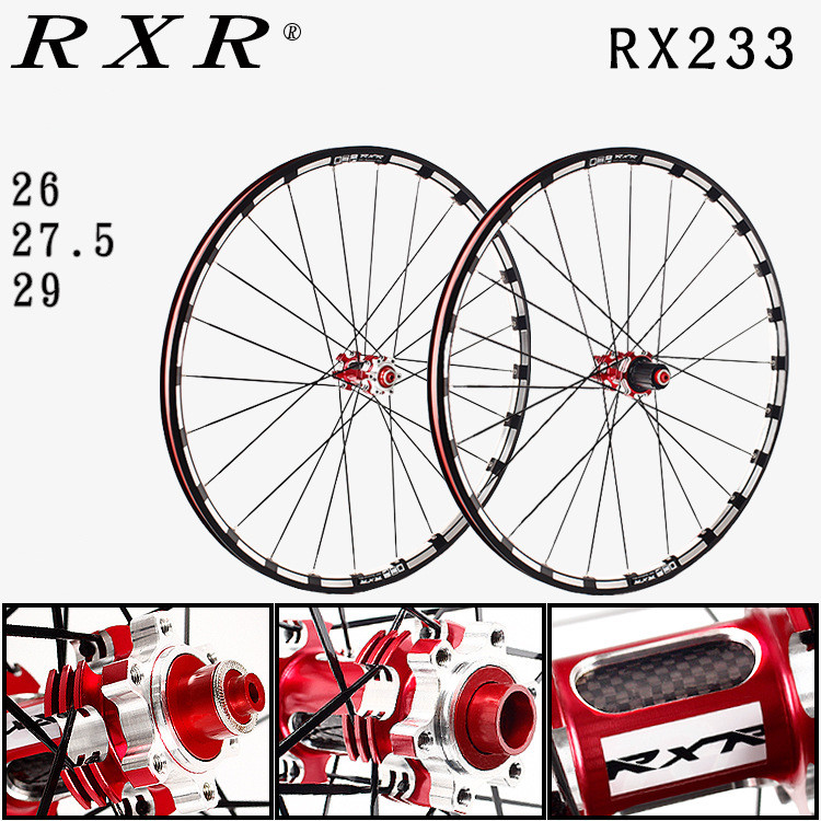 2018 MTB mountain bike CNC hollow front 2 rear 5 sealed carbon bearings hub 26/27.5/29 inch Disc brake wheels wheelset rim