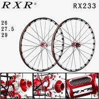2018 MTB mountain bike CNC hollow front 2 rear 5 sealed carbon bearings hub 26/27.5/29 inch Disc brake wheels wheelset rim