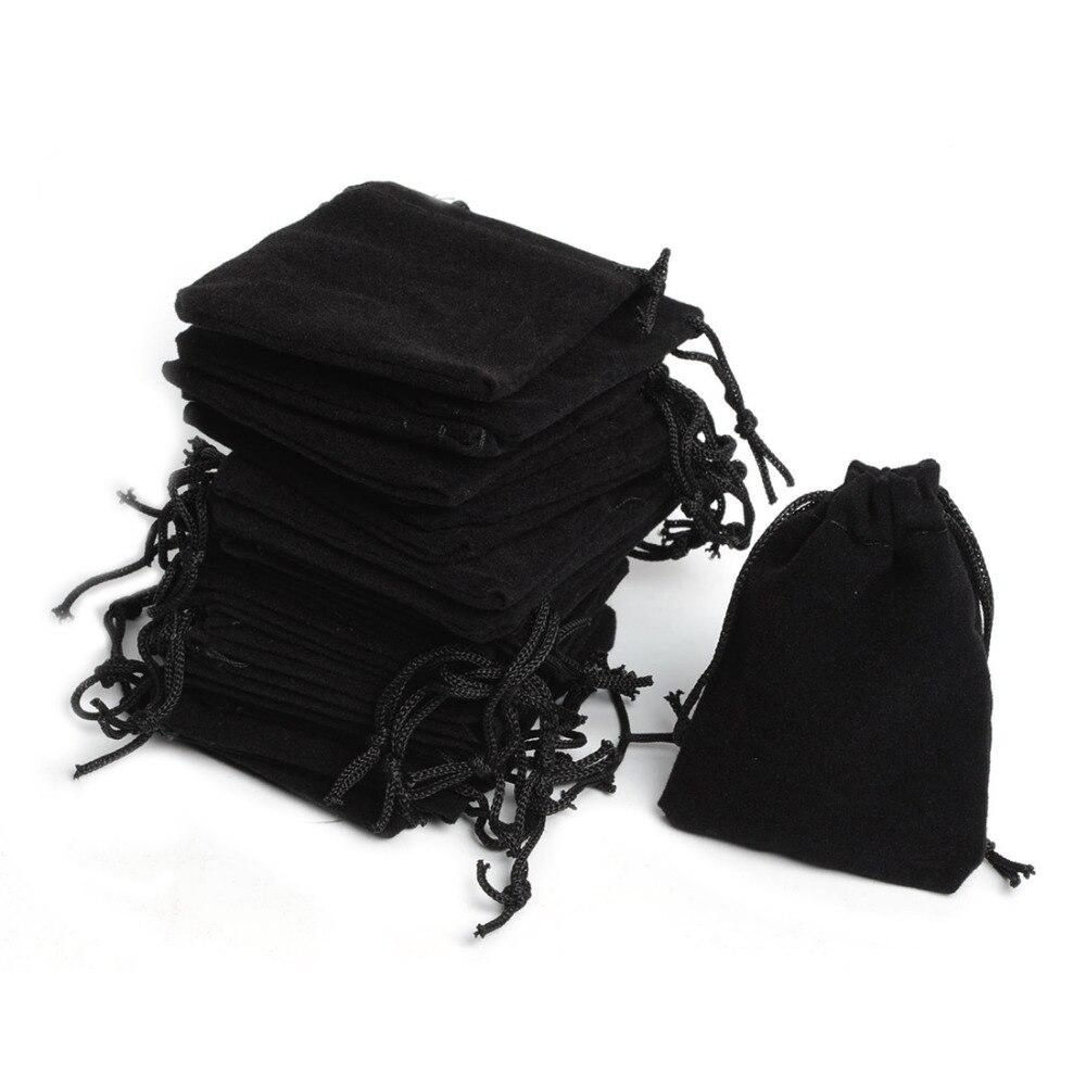 Wedding Gift Pouches: 2016 New Cheap 100Pcs 5x7cm Velvet Drawstring Pouch Bag