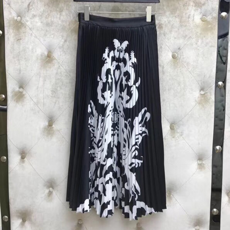 Women A line Skirts Elegant Slim Solid Skirts 2019 New Women High Quality Casual Printed Skirts
