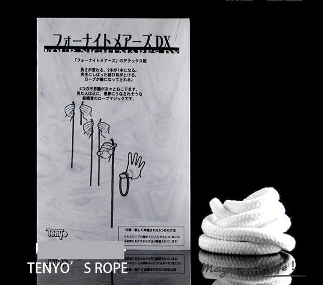 Tenyo Quatro Pesadelo DX trucos de magia Truques de Mágica Corda Longa Ilusão Corda Curta Acessórios de Palco Mágico Gimmick Mentalismo