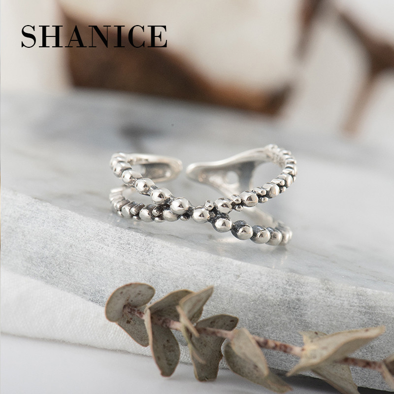 SHANICE Infinity Cross 100% 925 Sterling Silver Finger Ring for Women Anniversary Gift Wedding Party Korean Jewelry