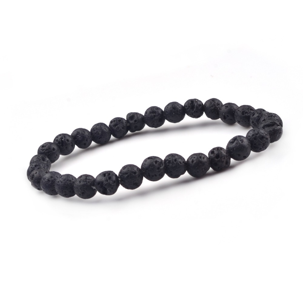 Popular natural stone volcanic rock yoga bracelet, can promote the new generation to ensure the health of the human body Lol