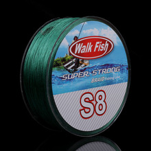 WALK FISH Super Strong S8 Braid Line 500M 8 Strands Braided Fishing Line Wide Angle Technology Multifilament PE Line Saltwater