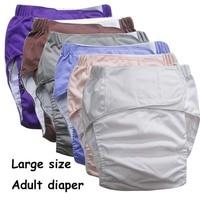 Super grand Réutilisable couches pour adultes pour les personnes âgées et handicapées, taille adjuatable TPU manteau Étanche Incontinence Pantalon underware