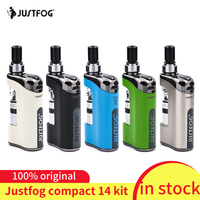 in stock!!! justFog Compact 14 Kit 1500mah built in battery E Cig Vaporizer Kit with 1.2ohm/1.6ohm Q14 Clearomizer Tank Vape Kit