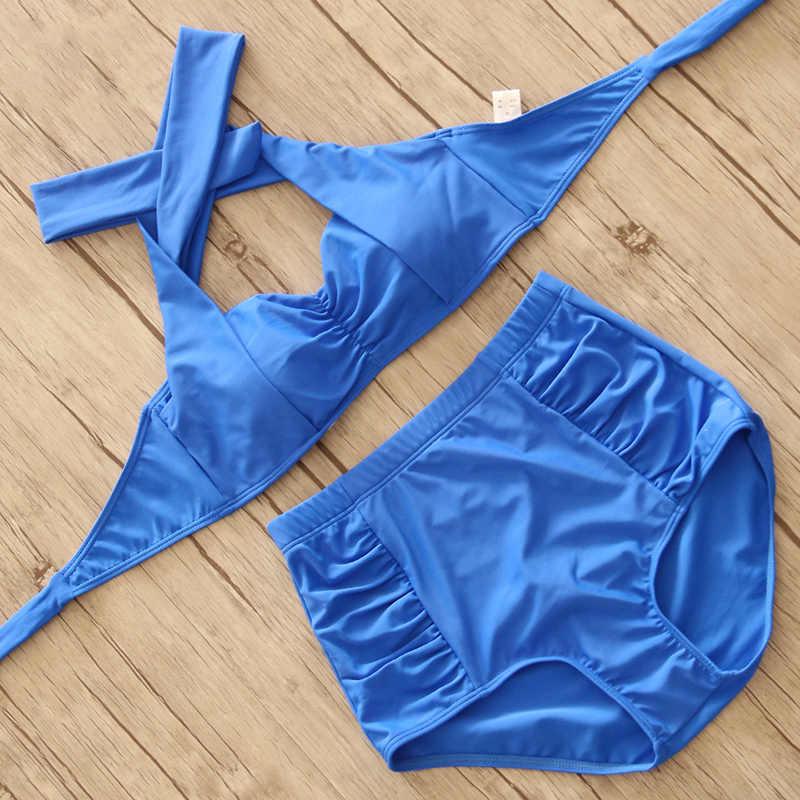 Raintropical Высокая талия Купальник 2019 новый бикини для женщин; Большие размеры купальники короткий топ купальник большой Размеры комплект бикини ванный комплект