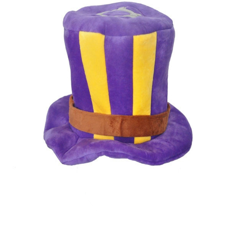 New GAMES Caitlyn The Sheriff of Piltover Cosplay Purple Top Cosplay Hat for Gamer Christmas Cap Gift BS248 Free Shipping