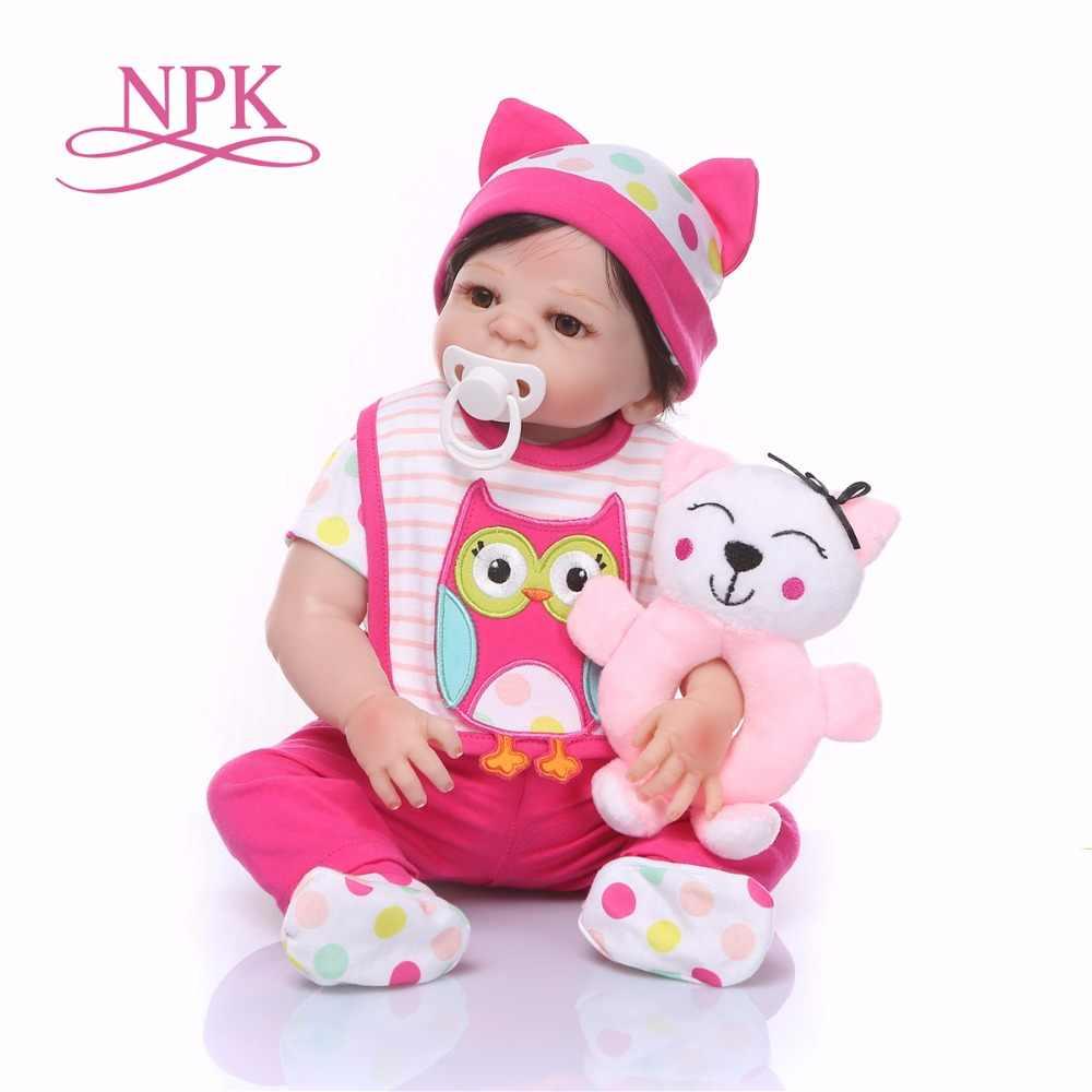 19 pulgadas 48 CM Boneca cuerpo completo suave silicona vinilo bebes Reborn Baby Doll juguetes realista niño cumpleaños regalo de Navidad juguete caliente para niña