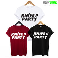 KNIFE PARTY PRINTED MENS T SHIRT EDM DUBSTEP ELECTRO MUSIC DJ DANCE RAVE TEE UKF TShirt