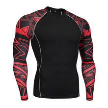 Mens T-Shirt Shirt Compression Tights UFC Tactics Quick-drying T-shirt Winter Warm Jogging Suit Sports Shirts Men Rashguard MMA