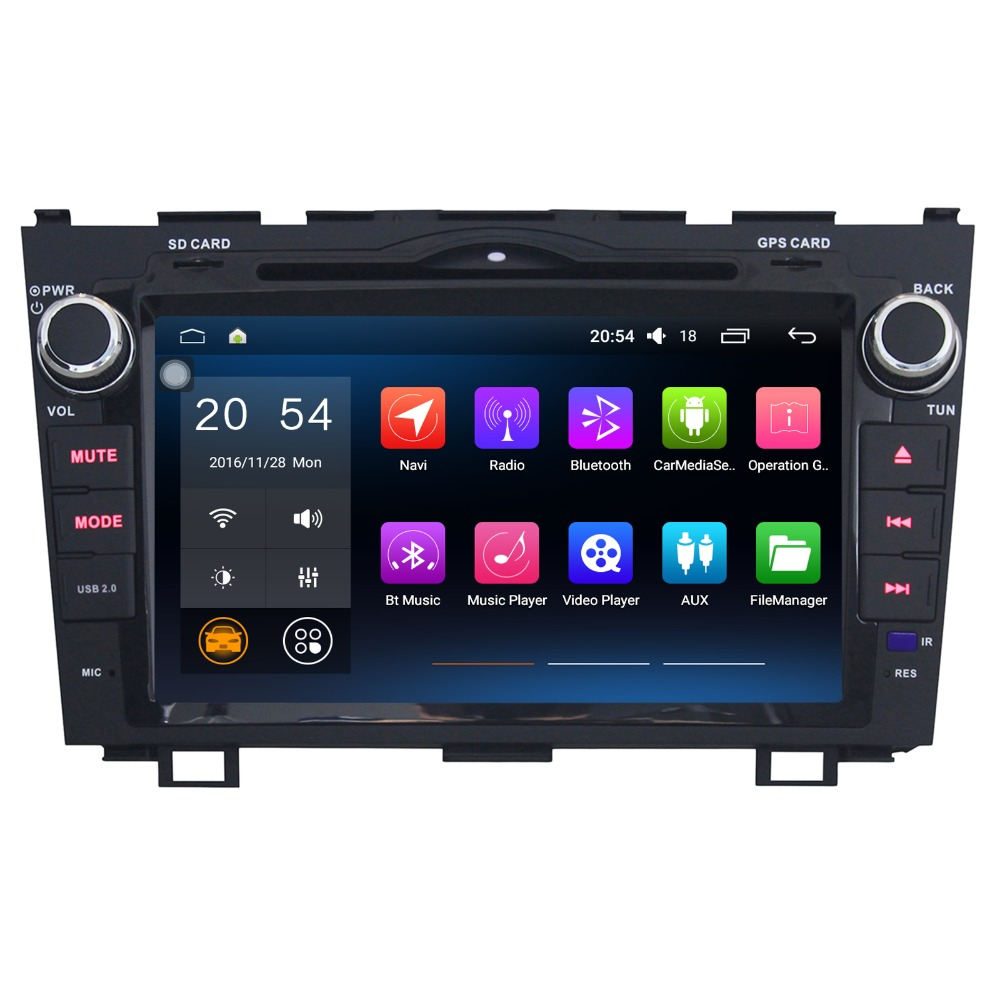 8 Inch Android 6.0 Car Multimedia Player For Honda CRV 2008 2011 Without DVD Car Stereo Car Audio