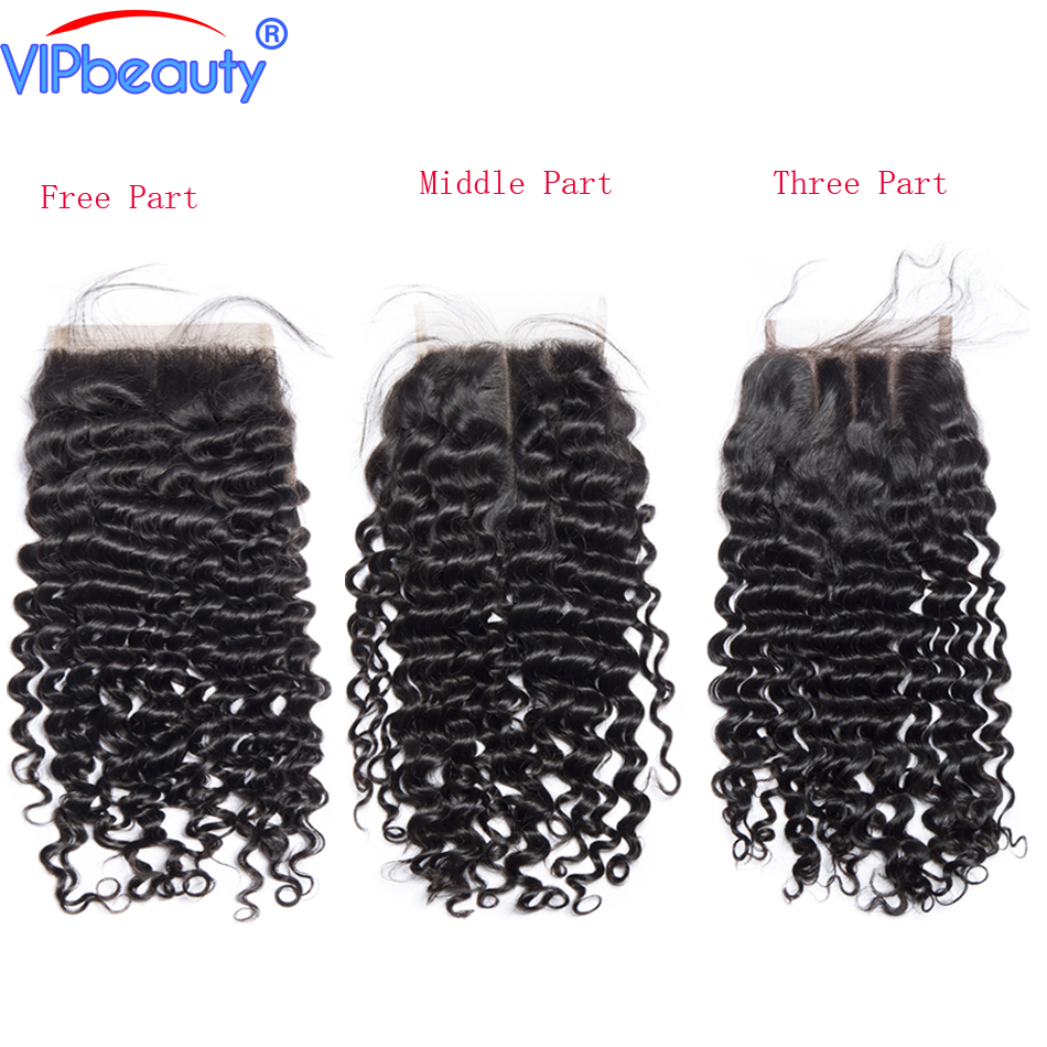 Vip beauty Malaysian curly hair 4x4 lace closure remy hair 100 human hair weave lace closure