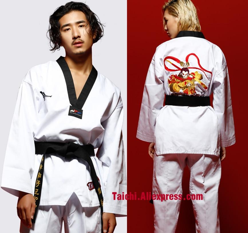 Tae Zhuo Monkey Taekwondo Serve Adult Taekwondo Clothing Men And Women Long Sleeve Taekwondo Coach Serve