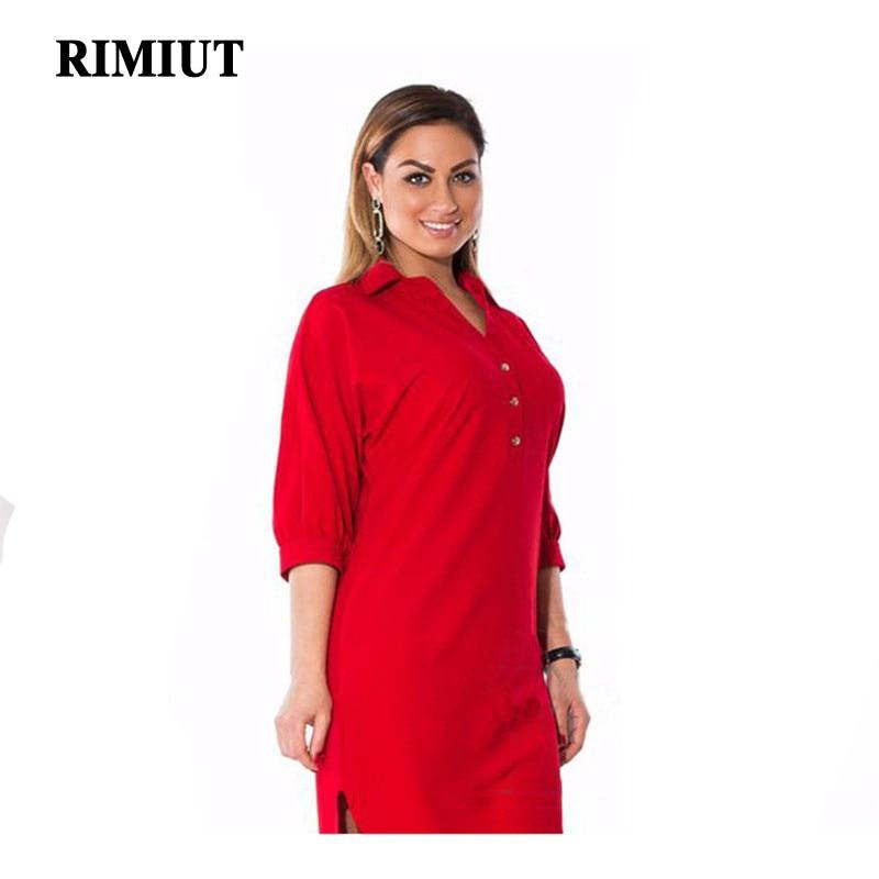 2017 große größe 6xl fett mm frau dress frühling sommer solide sexy split unregelmäßiges hemd kleider plus größe frauen kleidung 6xl dress