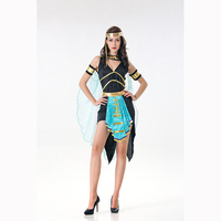 Hot Sale Greek Goddess Halloween Costume Women Cosplay The queen of Egypt Dress with Lace Cloak for Party Female Perform Dress