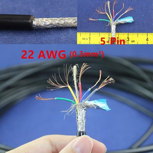 1 Meter Kupfer Elektrischen Draht 5 Pin 22 AWG anti interferenz ...