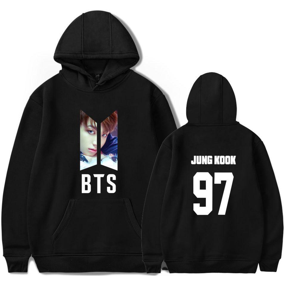 BTS kpop JUNG KOOK Hoodie cosplay Harajuku Cap Sweatshirt Bangtan boys Hoodies and Sweatshirts unisex clothes plus size