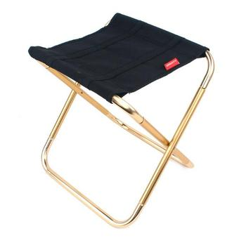 Outdoor folding chair 7075 aluminum alloy fishing chair barbecue stool folding portable stool camping stool folding stool aluminum alloy mazar portable barbecue fishing chair camping accessories travel mazar for outdoor hiking