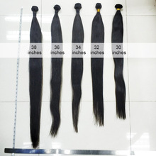brazilian straight hair bundles deal 1/3/4pcs Long human hair extensions weave 28 30 inch 32 34 36 38 40 Inch sliky remy