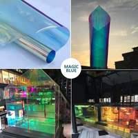 Self Adhesive Dichroitic Decorative Rainbow Tint Window Glass Film 68cmX50m Per Roll