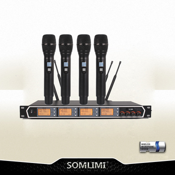 NEW!!!!Automatic search frequency wireless microphone with trasmitter sets with two colors