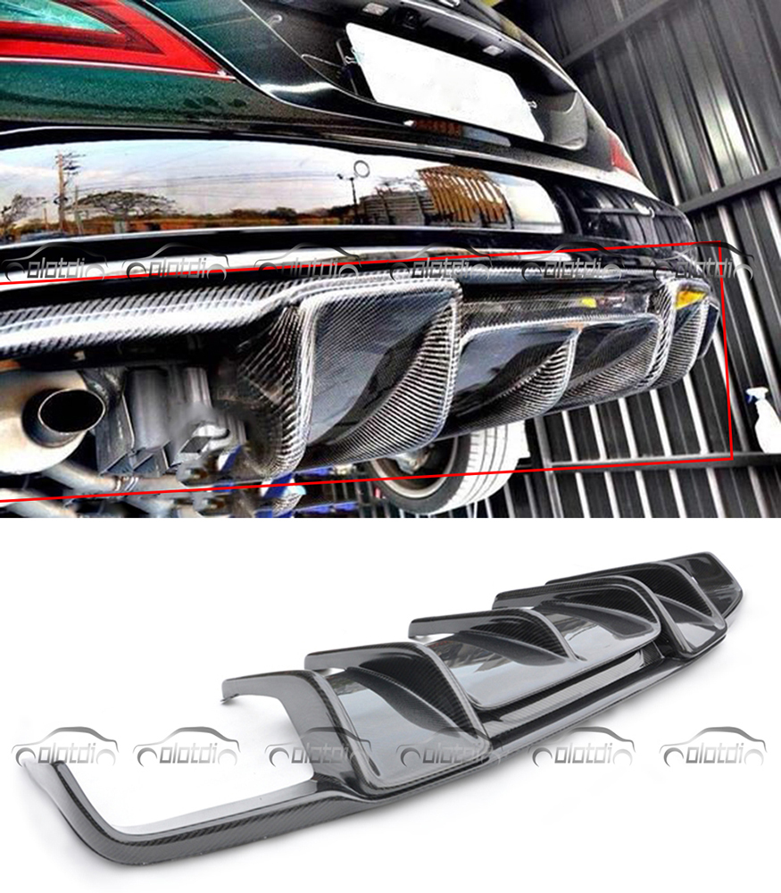 Car Styling for Renntech Style Carbon Fiber Rear Bumper Lip Diffuser for Mearcedes Benz W218 CLS350 CLS63 AMG Bumper 2011-2013