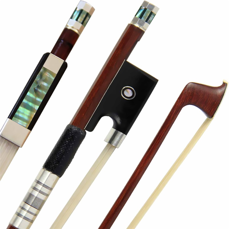 Free Shipping Pro Brazil Wood Violin Bow 4/4 Violin Bow Siberia White Horsetail Silver Parts Best Balance Antique Frog aaaaa professional pernambuco wood 4 4 violin bow white siberia horsetail nickel siver mounted ebony frog free shipping 9