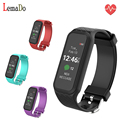 LEMADO L38I Bluetooth Smart Band Dynamic Heart Rate Monitor Smart Bracelet for IOS Android Smartphone