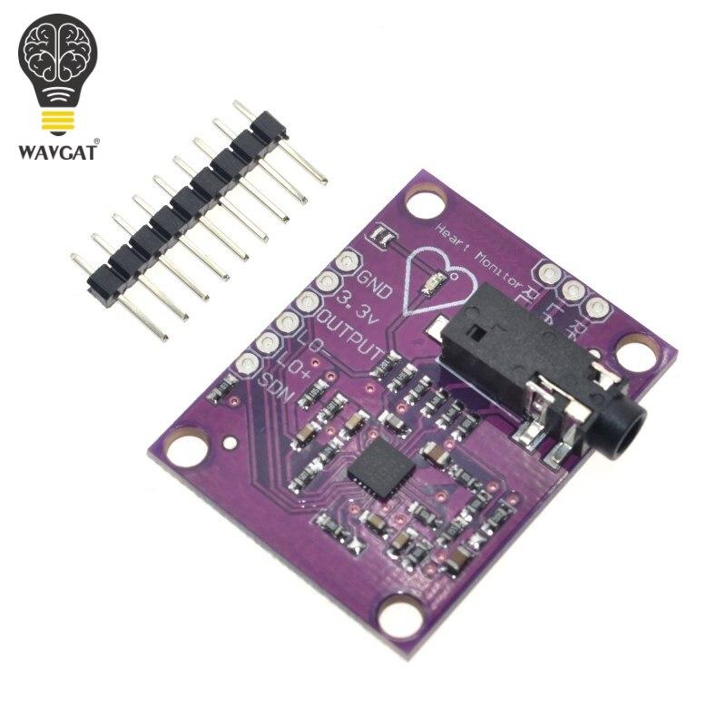 Wavgat ad8232 физиологические измерения пульса ЭКГ био Мониторы Сенсор плате модуля Лидер продаж