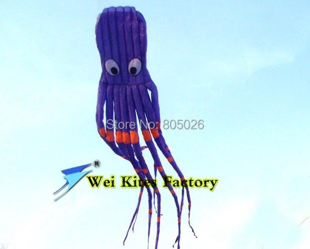 Livraison gratuite 8 m pieuvre cerfs-volants jouet volant avec poignée cerfs-volants doux lignes kitesurf fée cerf-volant rond enfants cerf-volant vente en gros - 4