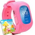 Tela oled smart watch q50 gps sim smartwatch relógio de pulso inteligente garoto com mensagem de chamada sos localizador rastreador para criança