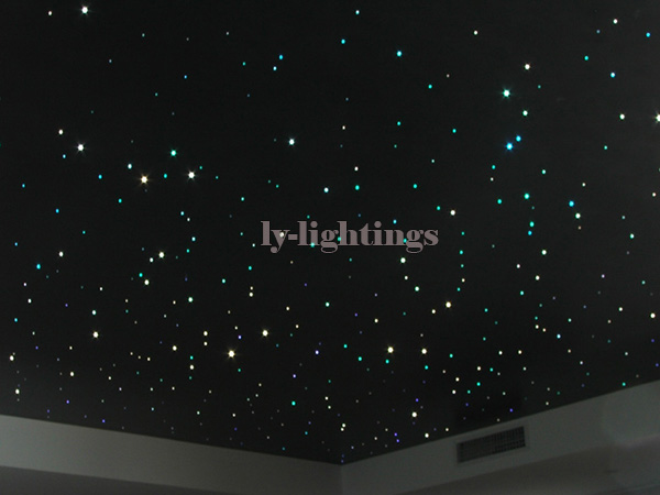 DIY bar ceiling light optic fiber light kit led light source+optical fibre RGB color change RF remote star sky room night light diy optic fiber light kit led light 100x1mm 2m optical fibre color change twinkle star ceiling light 20w rf remote