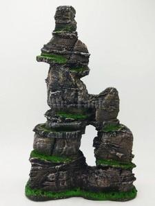 Image 3 - Mr. Tankı büyük akvaryum Rockery süs reçine kaya dağ görünüm manzara evcil balık gizleme kaçış delik süslemeleri