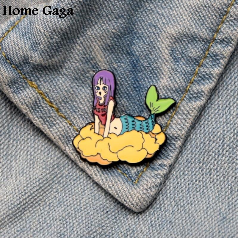 Arts,crafts & Sewing Apparel Sewing & Fabric 10pcs/lot Homegaga Dragon Ball Mermaid Zinc Pin Para Backpack Pride Clothes For Bag Shirt Hat Badge Brooches For Men Women D1590 Moderate Price