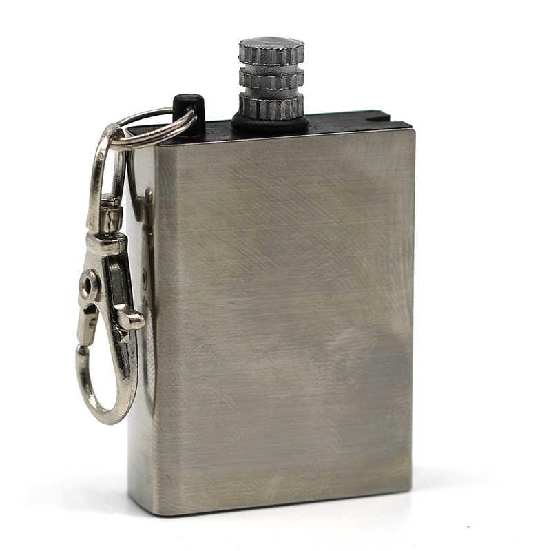 Кремневый огонь стартер спички портативный бутылка формы выживания инструмент Зажигалка Набор для наружного без масла