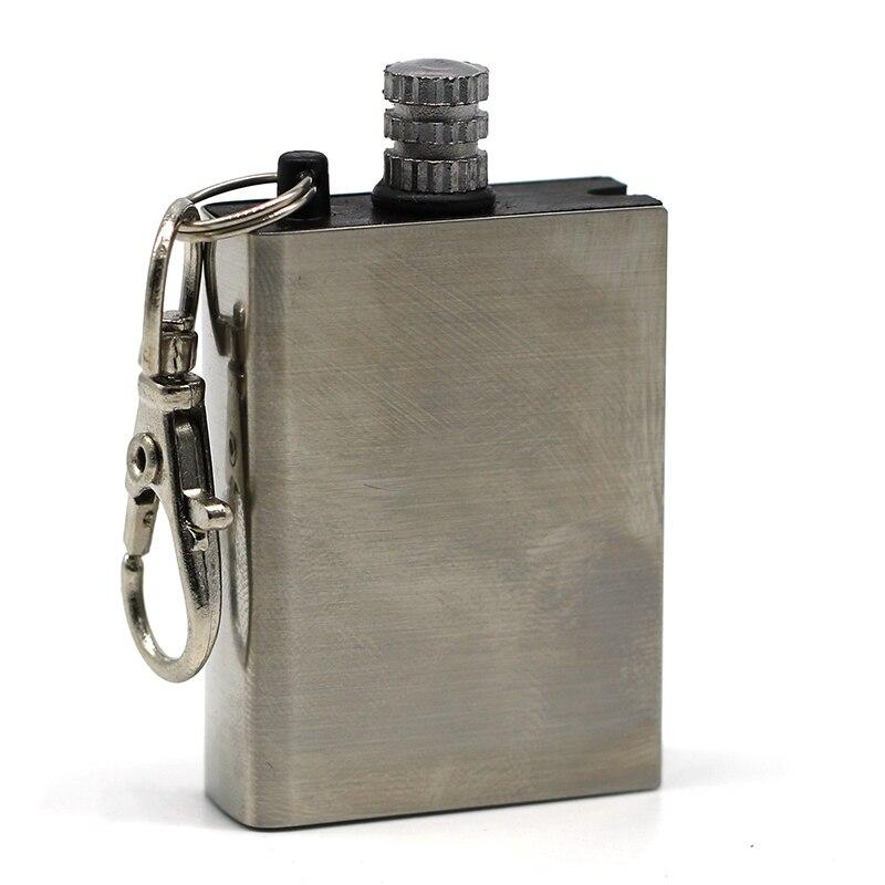 Flint Fire Starter Matches Portable Bottle Shaped Survival Tool Lighter Kit for Outdoor NO OIL