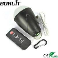 Boruit 1.5ワット200lm 12 ledポータブルランタンでirリモート制御3モードusb充電式ライトテント傘キャンプラン